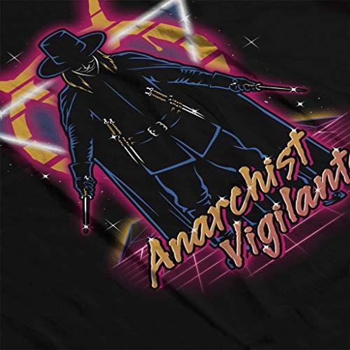 Black Black Black Hooded Vigilante for V Sweatshirt Women's Anarchist Anarchist Anarchist Anarchist Vendetta qZWfFwA8
