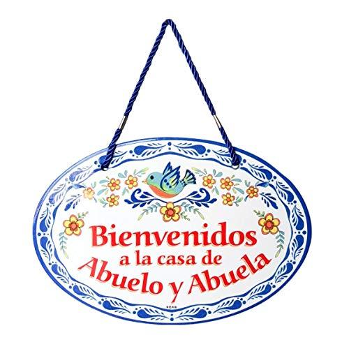 Essence of Europe Gifts E.H.G Mi Casa ES Su Casa Decorative Ceramic Latino Door Sign (Blue)