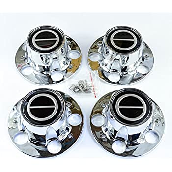 Ford Ranger Bronco II Explorer Chrome Wheel Center Caps Black center set of 4
