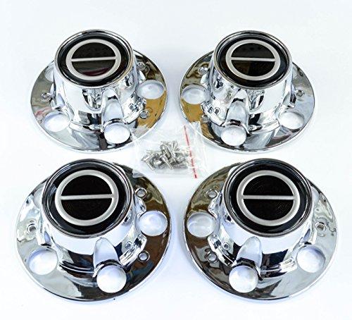 (Ford Ranger Bronco II Explorer Chrome Wheel Center Caps Black center set of)