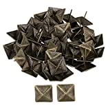 RDEXP 30x30mm Bronze Upholstery Tack Decorative Nail Furniture Square Rivet Bronze Set of 50
