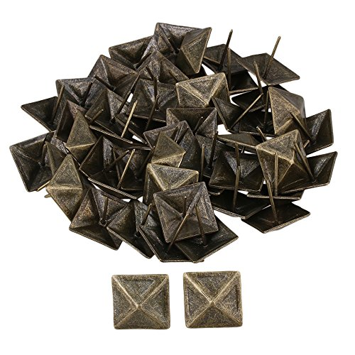 RDEXP 30x30mm Bronze Upholstery Tack Decorative Nail Furniture Square Rivet Bronze Set of 50 by RDEXP