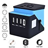 Universal Travel Adapter, Styqeen Travel Power Converter, All in...