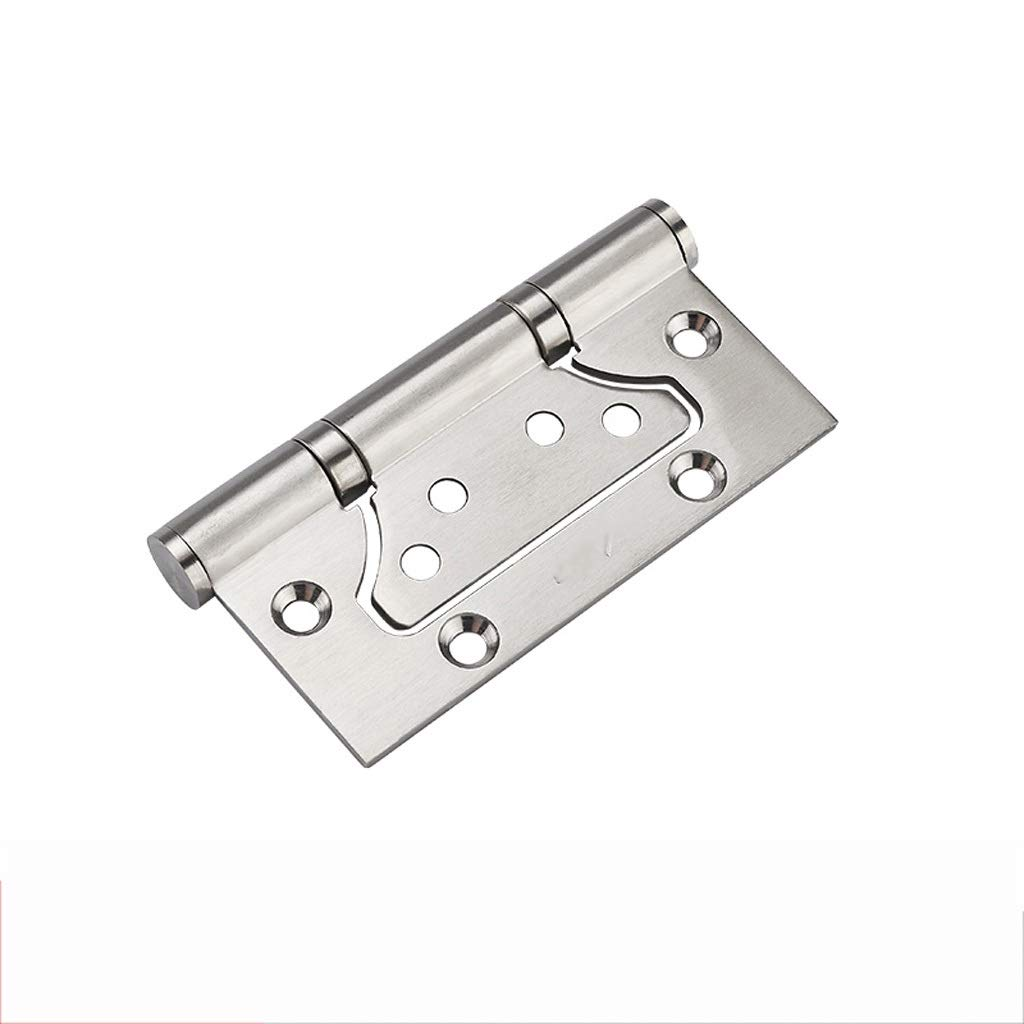 LEZDPP Hinge 304 Stainless Steel Mother-in-Law Hinge 4 Inch 3.0 Silent Wooden Door Free Slotted Door Hinge Single Piece (Color : Silver, Size : 6pcs) by LEZDPP