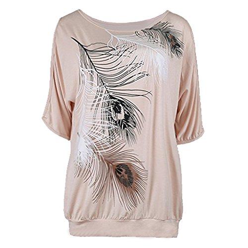 Dcontract Travail Lache Chemisier Chemises Imprimer Abricot Top Tops Femmes Floral Courtes Sling Manches Tshirt Casual Size Plus pour Femmes Chemise BZTFqUA