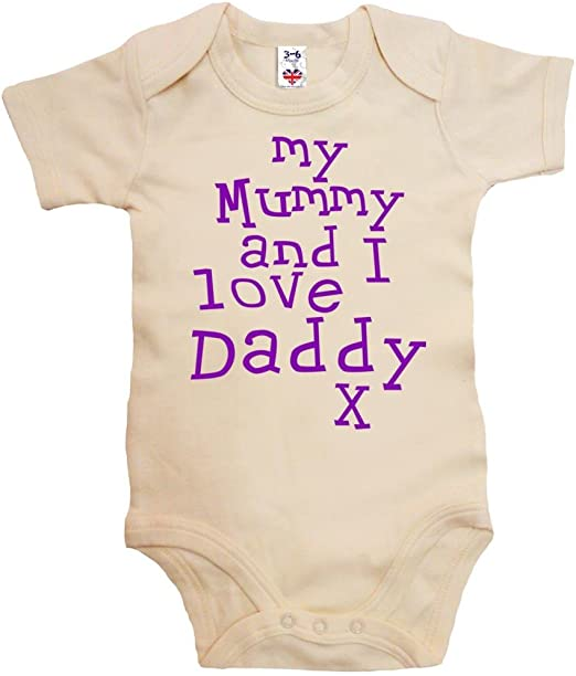 Body B/éb/é I love my Daddy this much Image V/êtements b/éb/é