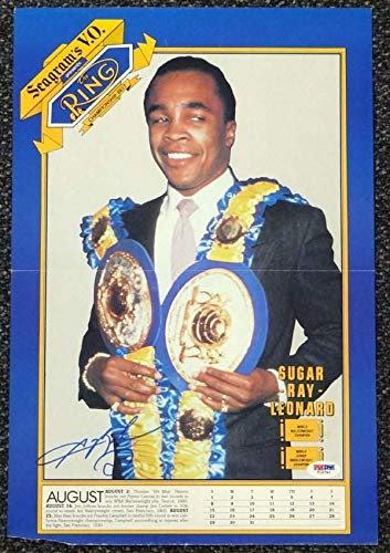 - Signed Sugar Ray Leonard Picture - Magazine Poster #T19792 - PSA/DNA Certified - Autographed Boxing Photos