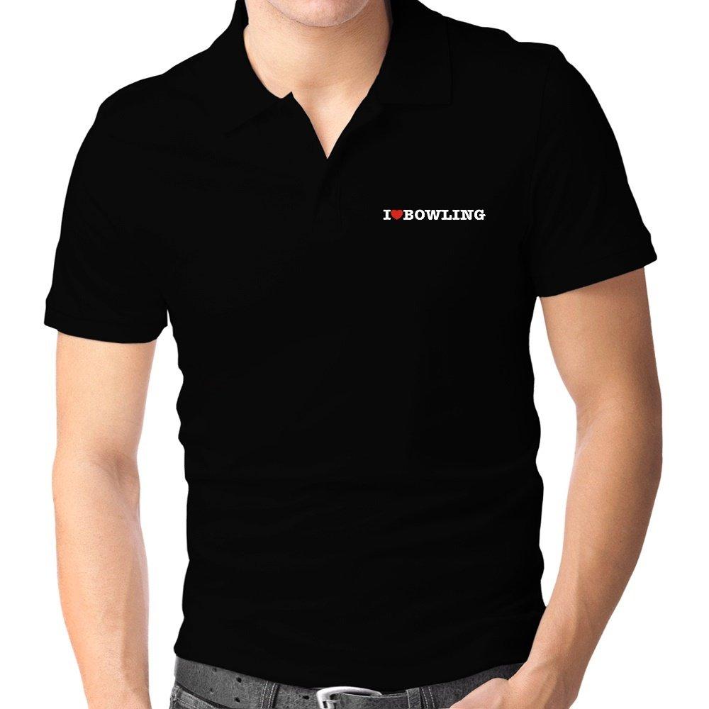 Teeburon I Love Bowling Polo Camisa: Amazon.es: Ropa y accesorios