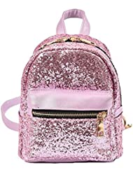 EPLAZA Women Girls Shining Backpack Convertible Shoulder Cross Purse Child Travel Bag Daypack