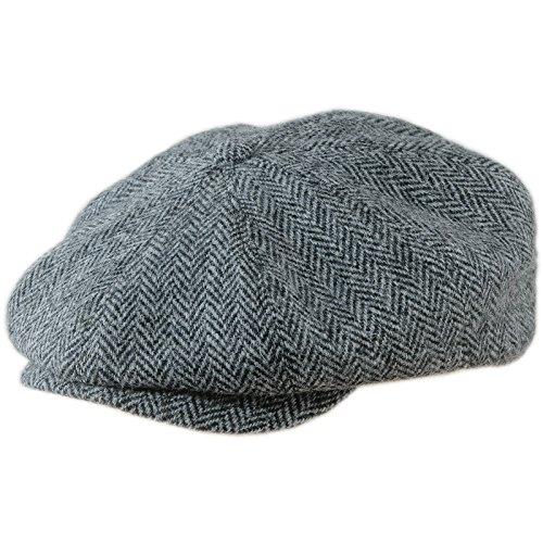 Vintage Mens Harris Tweed - Sterkowski Vintage Style Peaky Blinders Cap Harris Tweed US 7 Herringbone