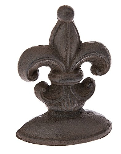 6.75 Inch High Fleur De Lis Cast Iron Door Stop By Midwest CBK