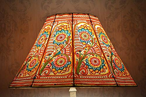 Large Floor Lamp Shade in Multi Colour Floral Pattern   Hand