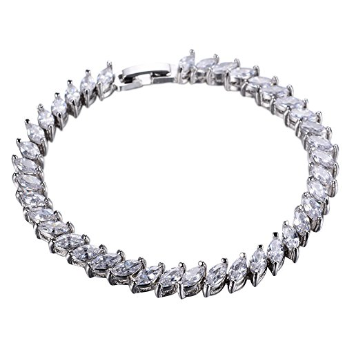 Cosines Jewelry - 10KT White Gold Filled Silver CZ Cubic Zirconia Tennis Bangle Bracelets Bridal Gift Leaves 10kt Gold Cross Ring