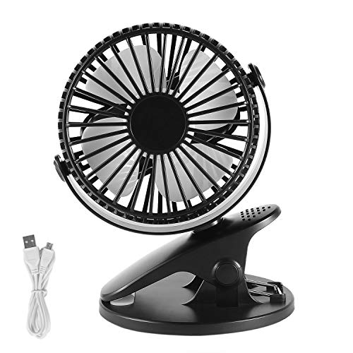 SAVFY Mini Desk Fan AdjustableTable Electronic Fan 4 Inch Portable Cooling Fan USB Powered by PC Netbook