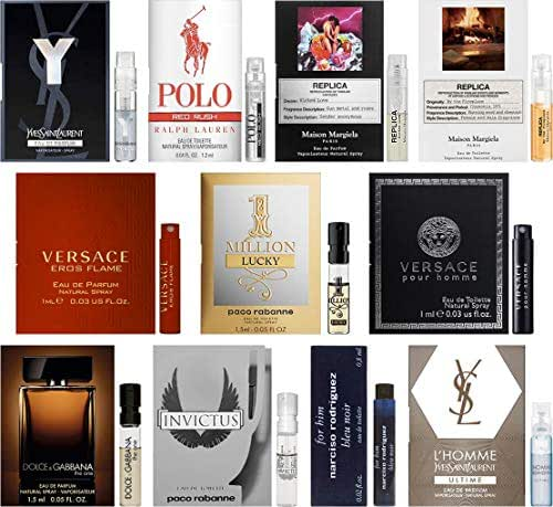 Men's Designer Fragrance Sampler - Lot of 11 Mini Cologne Sample Vials