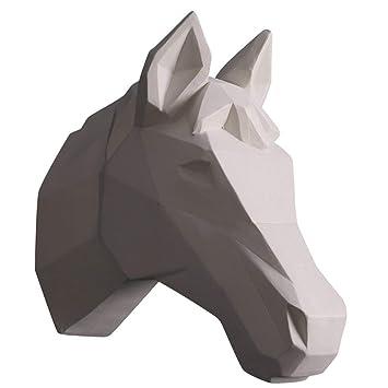 MLSH Tierskulpturen Moderne Wandbehang Tierkopf, Minimalist, Hirschkopf  Pferd, Elefant, Nilpferd, Kuh