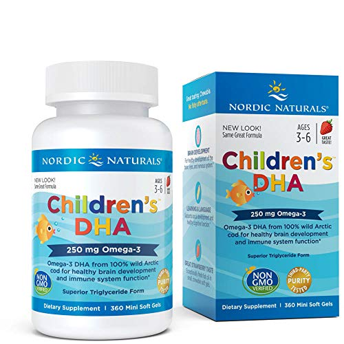 Nordic Naturals - Childrens DHA, Healthy Cognitive Development and Immune Function, 360 Soft Gels (FFP)