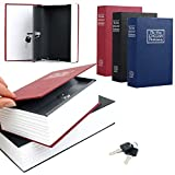 C&C Products Creative Safe Storage Box Case Dictionary Booksafe Cash Secure Metal Steel With Keys