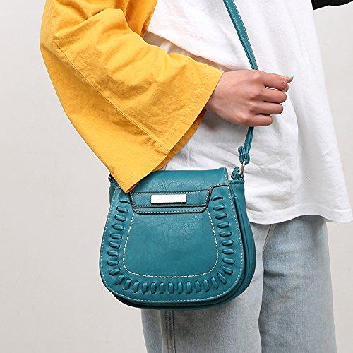 Color Messenger Women Leather Bag Bags Vintage Green Crossbody Pure Shoulder Bag Phone xRnqE
