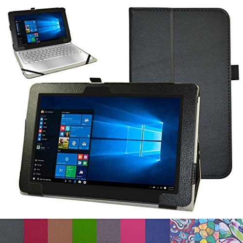 Dell New Latitude 11 5175 Case,Mama Mouth PU Leather Folio 2-Folding Stand Cover for 10.8