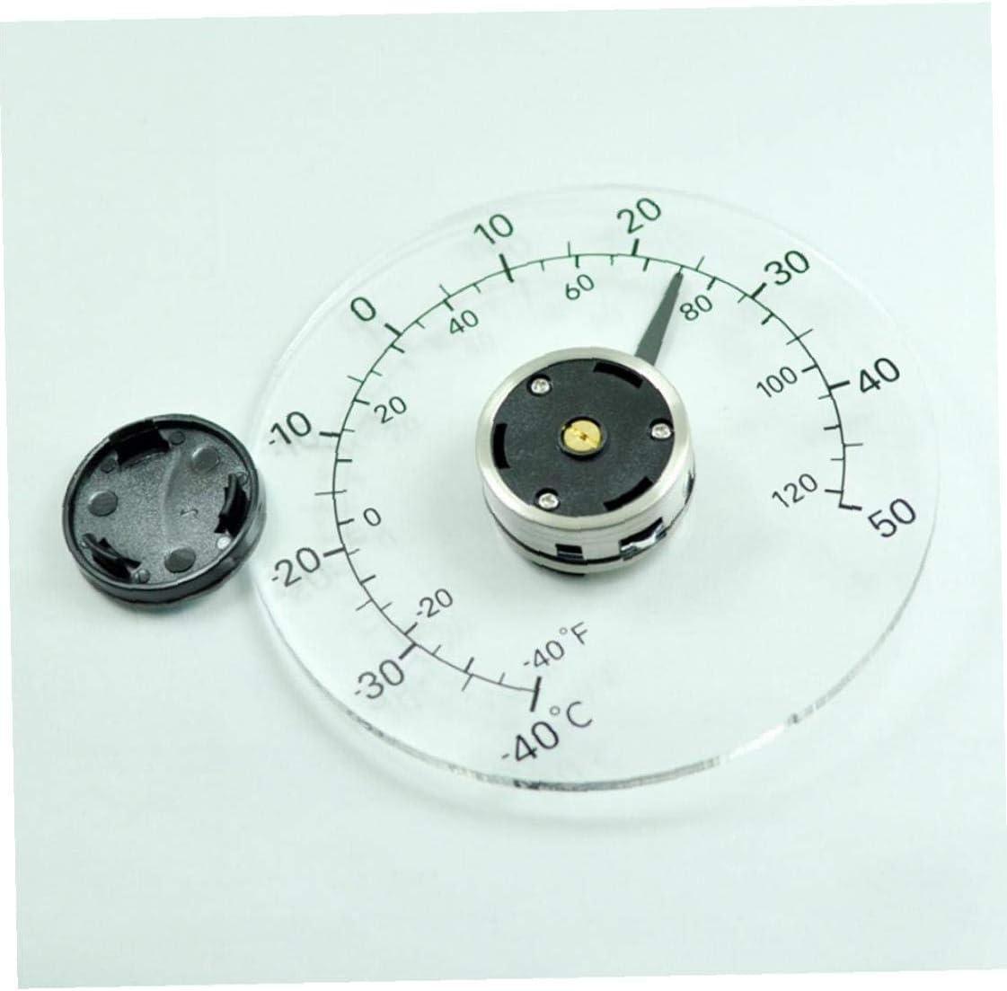 LAANCOO Termometro Esterno termometro Impermeabile Trasparente Senza Bisogno di Batteria a Bastone Porte autoadesive e finestre termometro Serra
