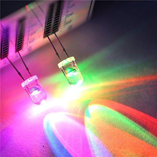 50pcs 2 Pins 5mm Water Clear Slow Flash Rgb Led Rainbow Multicolor Flashing Amazon Com