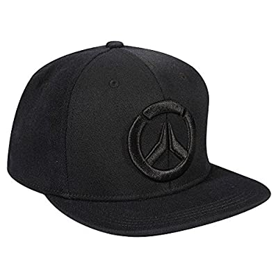 JINX Overwatch Blackout Stretch-Fit Baseball Hat (Black, One Size) from JINX