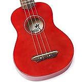 Hola! HM-21 Soprano Ukulele, Color Series (Red)