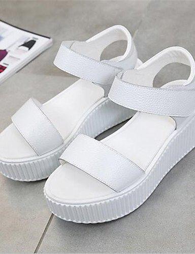 white us7 white Robusto Casual cn38 cn39 uk5 white mujer us8 uk6 de 5 us8 cn39 eu39 Blanco 5 uk6 GGX Tacón Negro eu39 PU Tacones Tacones Zapatos eu38 pP0Pan