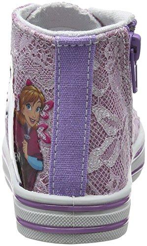 Disney Canvas Hi Pizzo, Zapatillas Altas Para Niñas Violeta