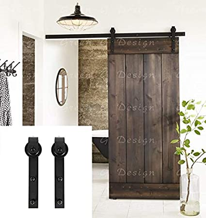 Amazon Erfect 66 Ft Brown Basic Wood Barn Door Steel Antique