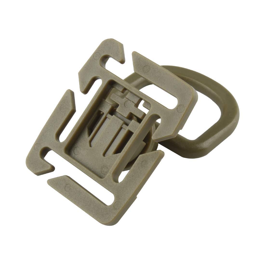 6 St/ück Taktisch Molle Buckle D-Ring 360 Rotation Clips Karabiner Rucksack Schnalle f/ür Gurt 18-25mm JMGK-01