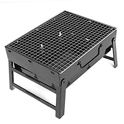 Simlug Barbecue Grill,BBQ Grill Portable Barbecue Charcoal Grill Stainless Steel Folding BBQ Charcoal Grill for Camping Outdoor: Garden & Outdoor