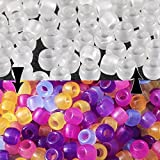 Goodlucky 500 Pcs Uv Beads Scientific Multi Color Uv Beads, Changing Reactive Plastic Beads, Pack of 500