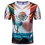 Men's Mexico Shirt World Cup 2018 Soccer Jersey Shirt (White, 2XL)