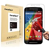 Motorola Moto G 2nd Gen 2014 Screen Protector- iVoler Tempered Glass Screen Protector for Motorola Moto G2 with Lifetime Replacement Warranty (1-Pack) [in Retail Packaging]