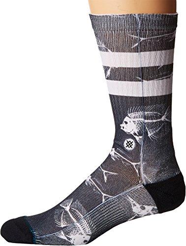 Stance Men's Fish Bone Socks,Large,Black