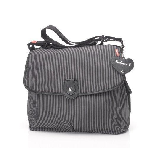 Amazon.com : Satchel bolsa de pañales, gris raya (descatalogados por el Fabricante) : Baby