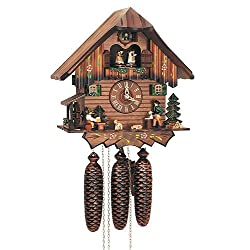 8-Day Dancing Couples Black Forest House Cuckoo Clock