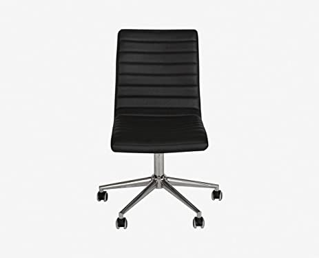 Kontor Armless Low Back Chair   Black