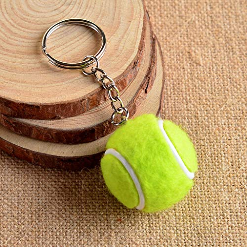 [해외]NATFUR Simple Tennis Ball Pendant Alloy Key Chain Ring Collectable Novelty Green Pretty Key-Chain for Women Holder Perfect for Girls for Gift Pretty Beautiful Great / NATFUR Simple Tennis Ball Pendant Alloy Key Chain Ring Collectab...