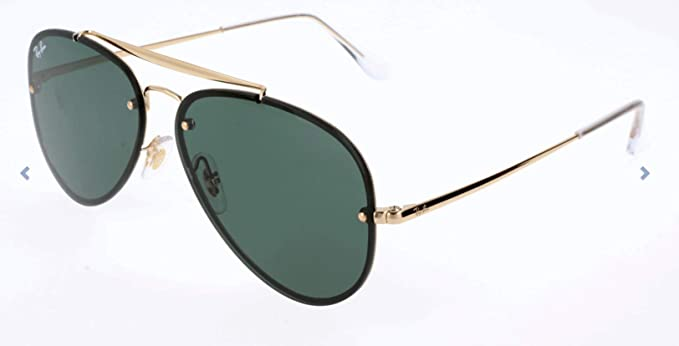 Ray-Ban 0Rb3584N, Gafas de Sol Unisex adulto, Marrón (Gold/Green Classic), 58