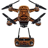 Skin for DJI Spark Mini Drone Combo - Carved Aztec| MightySkins Protective, Durable, and Unique Vinyl Decal wrap cover | Easy To Apply, Remove, and Change Styles | Made in the USA