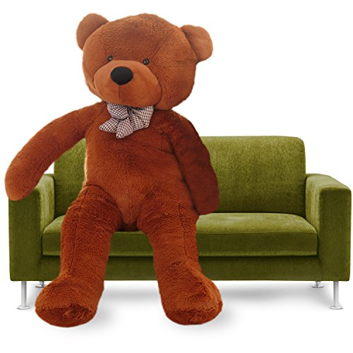 YXCSELL Brown Cuddly Super Soft Plush Stuffed Animal Toys Teddy Bear Toy Doll 39 Inches 4' Brown Teddy Bear