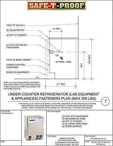 Safe-T-Proof STP-MP-201-PY-07 Undercounter Refrigerator Fastening Kit, Putty ()