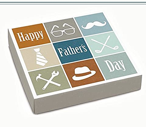 Happy Father's Day Sugar Free Assorted Chocolate Gift box - made by Diabetic Candy and friendly perfect for Dad on Father's - Diabetic Sugar Free Candy