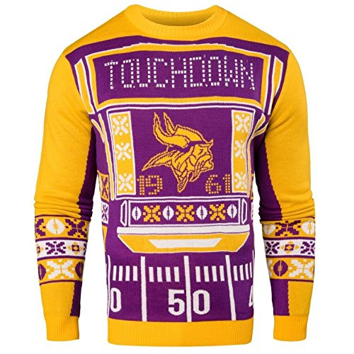 NFL Mens Ugly Light Up Crew Neck Sweater