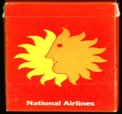 National Airlines playing cards 1970s