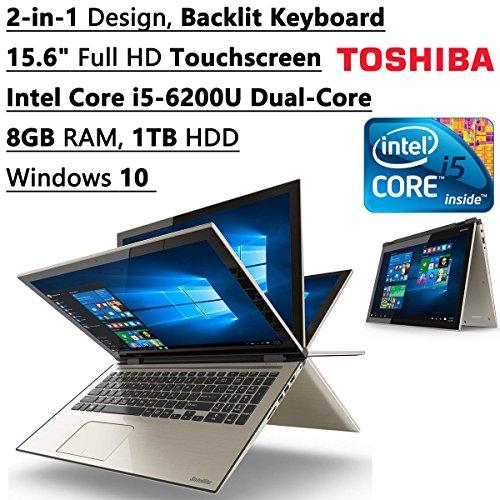 UPC 889661088202, Toshiba Satellite Fusion 2-in-1 15.6-Inch FHD Touchscreen Laptop (Intel Core i5-6200U Dual-Core 8GB RAM 1TB HDD Bluetooth WIFI Backlit Keyboard Windows 10)