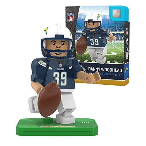 OYO NFL San Diego Chargers Gen4 Limited Edition Danny Woodhead Mini Figure, Small, White